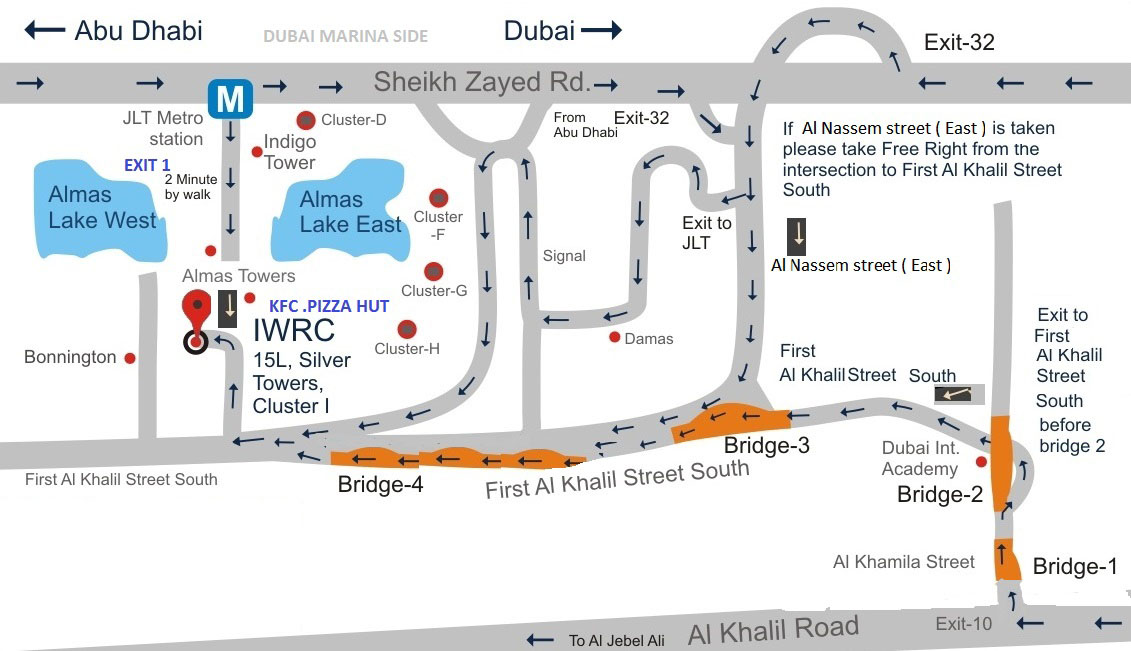 Location map Dubai